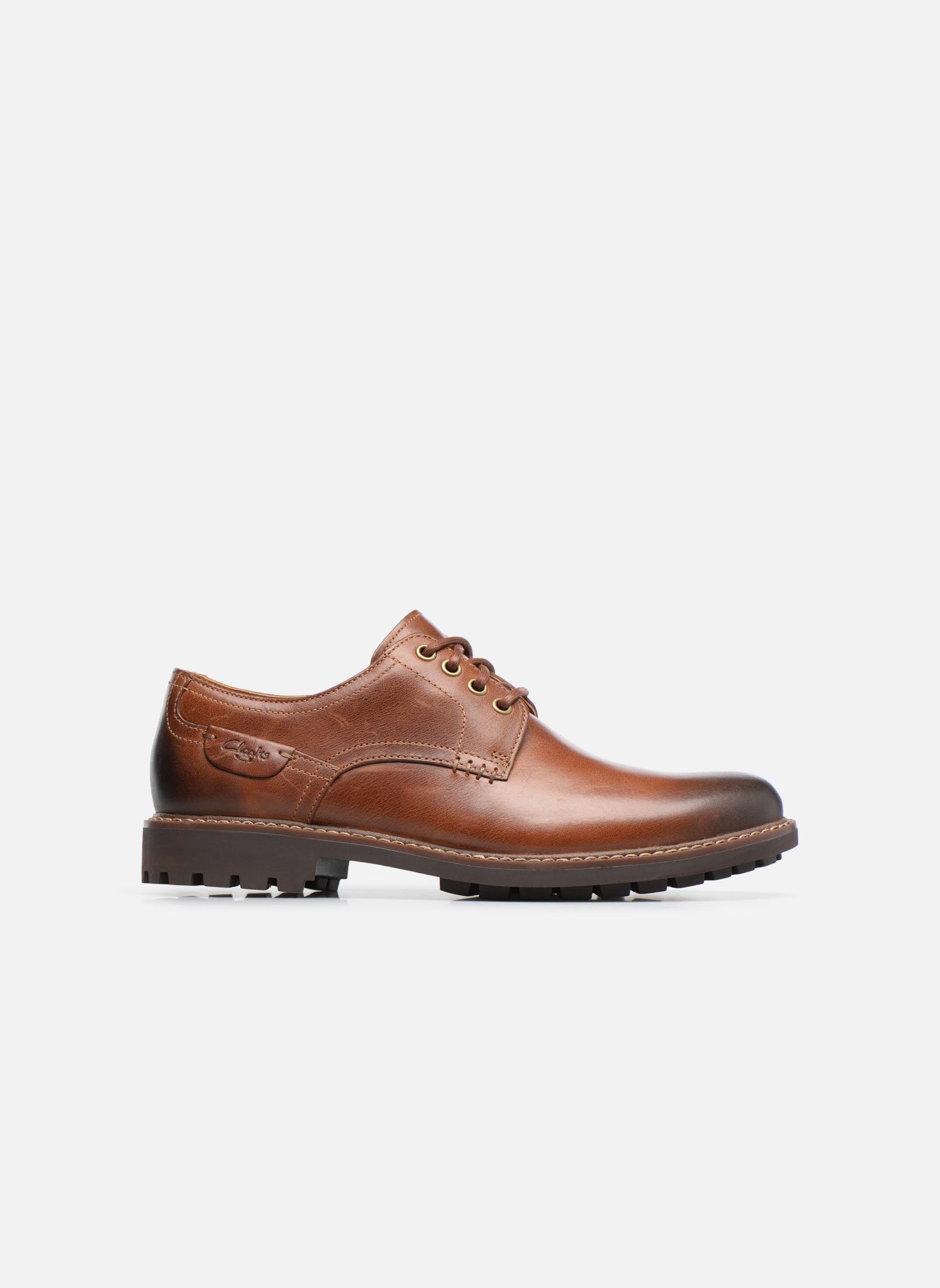 Chaussures à lacets Clarks Montacute Hall Marron vue derrière