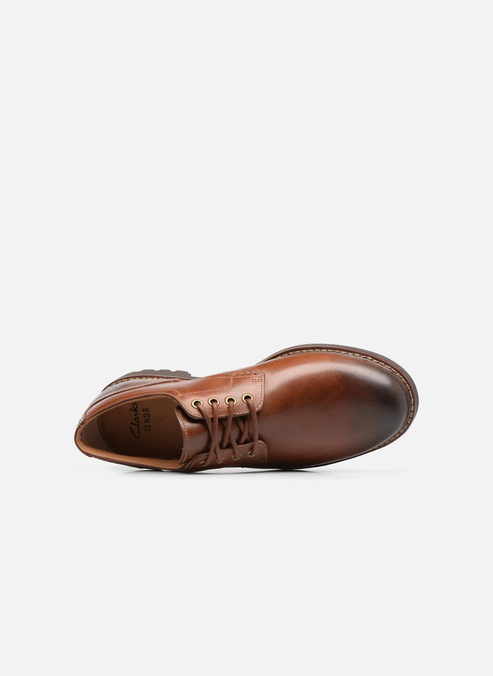 Chaussures à lacets Clarks Montacute Hall Marron vue gauche