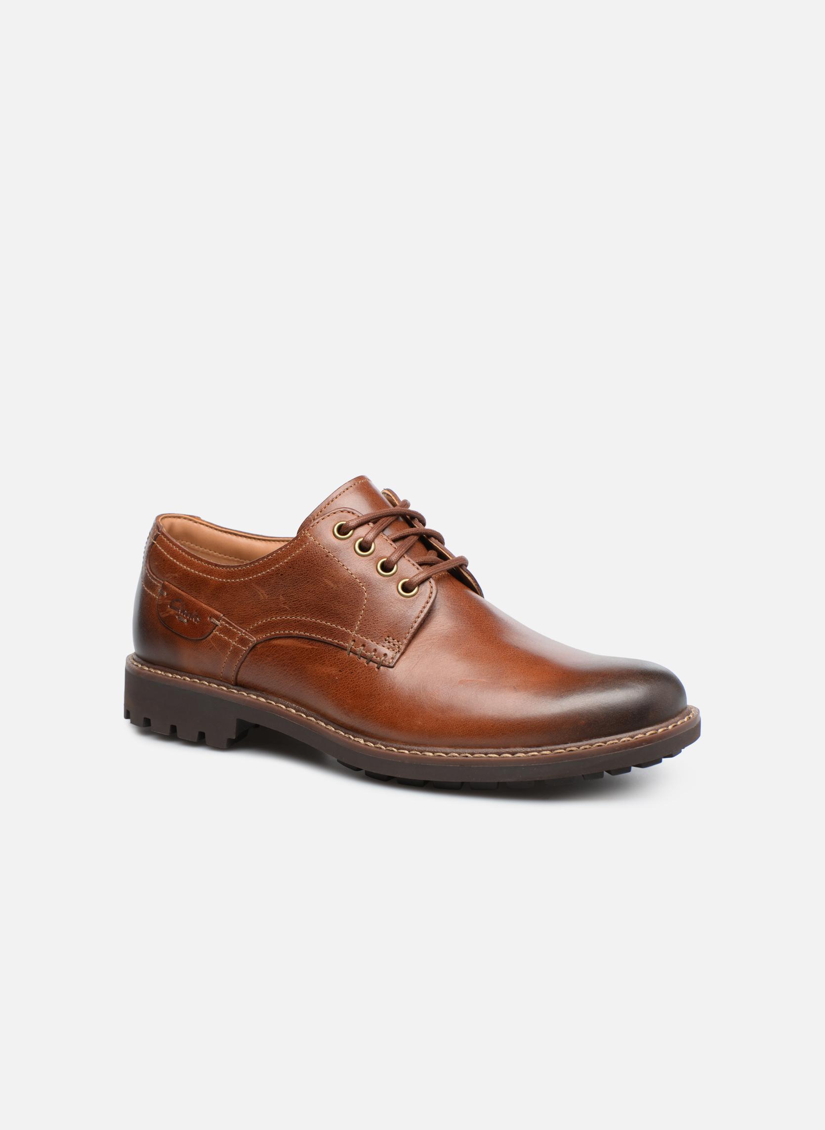Chaussures à lacets Clarks Montacute Hall Marron vue détail/paire