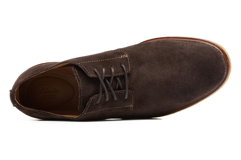 Chaussures à lacets Clarks Clarkdale Moon Marron vue gauche
