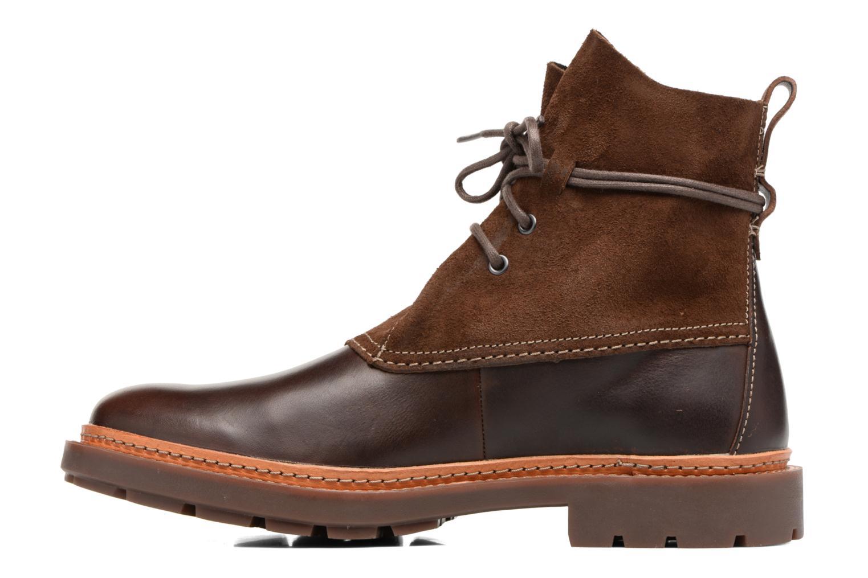 Boots en enkellaarsjes Clarks Trace Dusk Bruin voorkant