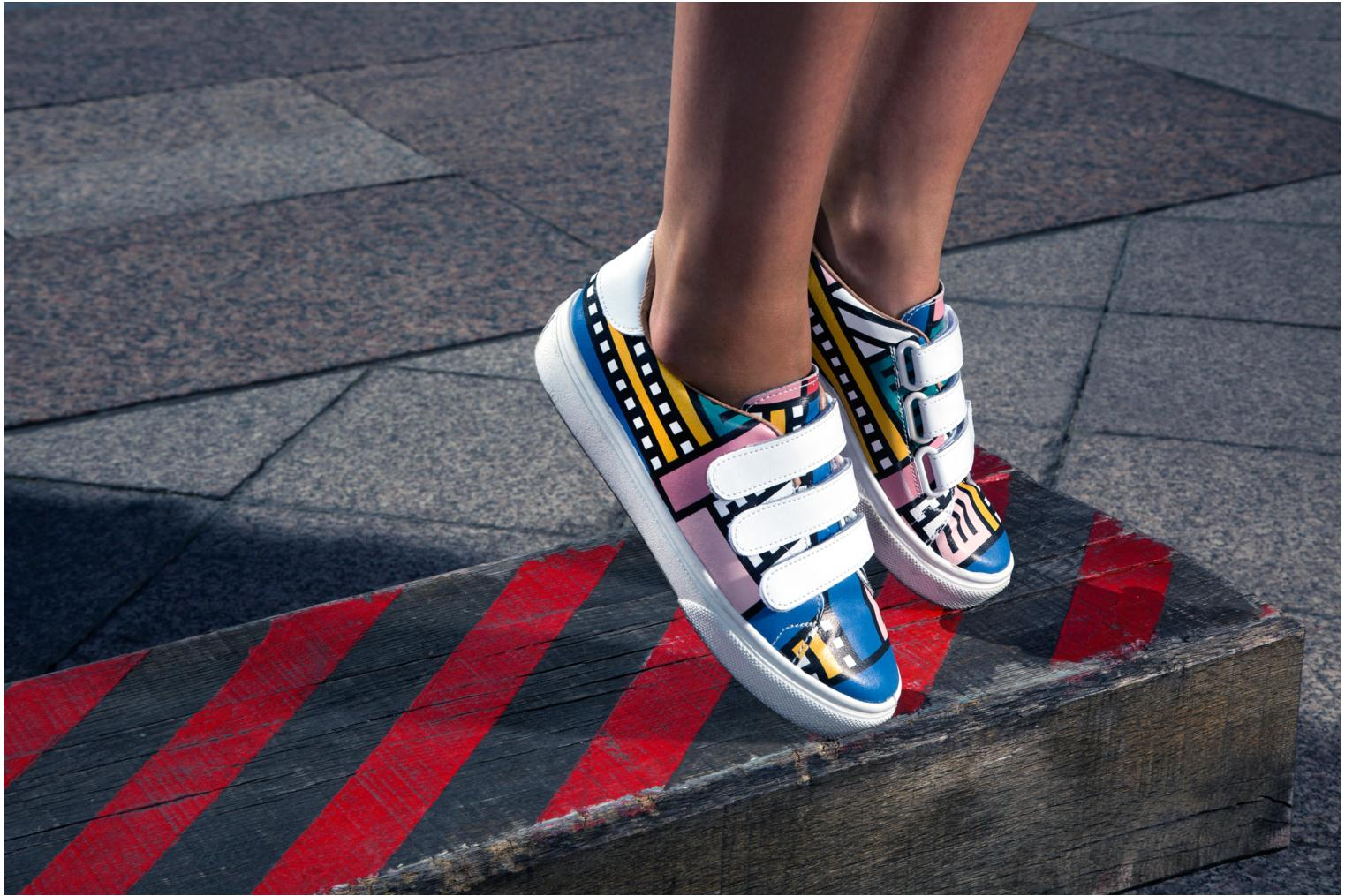 Baskets Made by SARENZA Made by Sarenza X Camille Walala Sneakers Multicolore vue portées chaussures