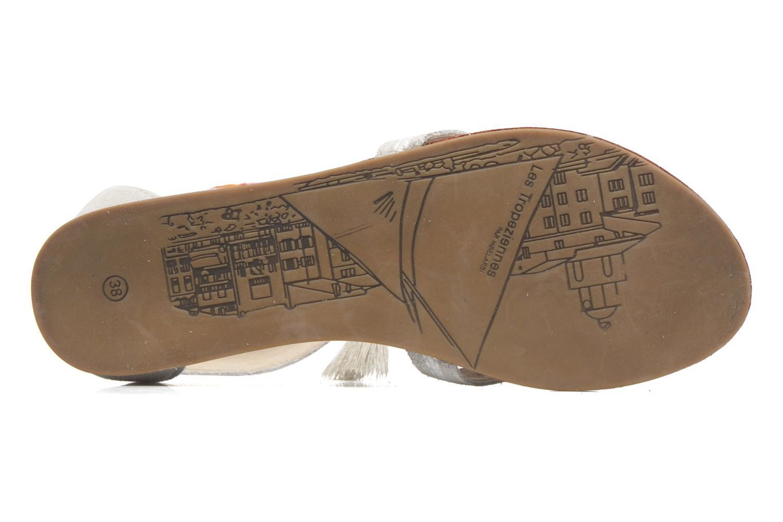 Sandales et nu-pieds Les Tropéziennes par M Belarbi Galactik W Beige vue haut