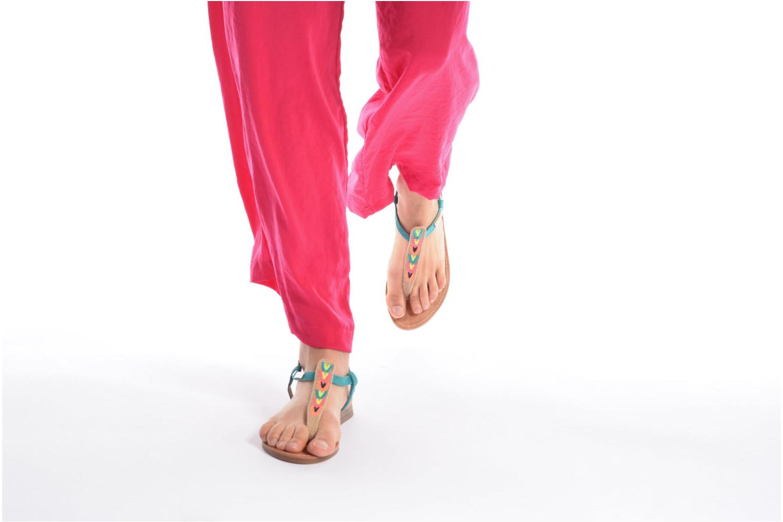 Sandales et nu-pieds Les Tropéziennes par M Belarbi Geronima Jaune vue bas / vue portée sac