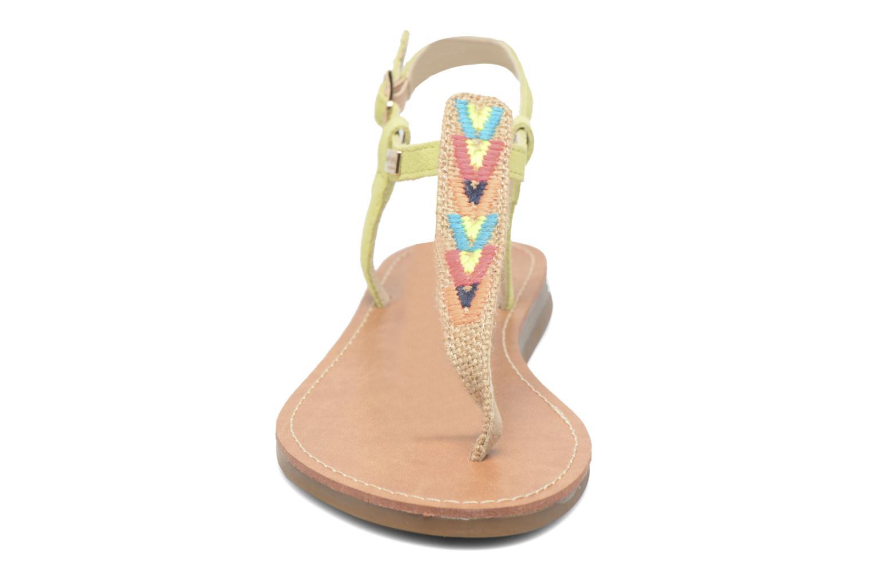 Sandales et nu-pieds Les Tropéziennes par M Belarbi Geronima Jaune vue portées chaussures