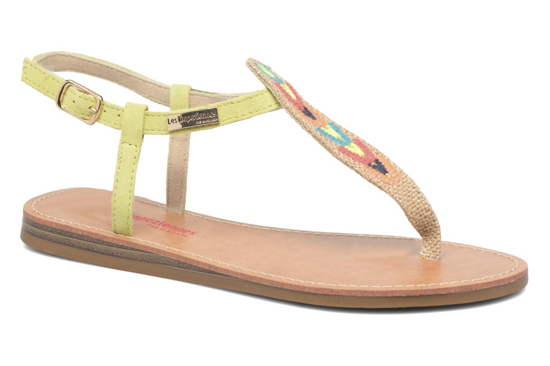 Sandales et nu-pieds Les Tropéziennes par M Belarbi Geronima Jaune vue détail/paire