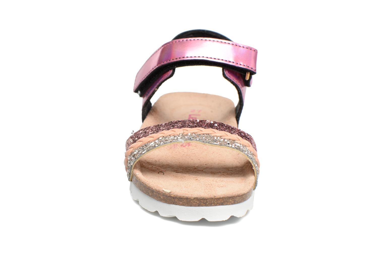 Sandales et nu-pieds Les Tropéziennes par M Belarbi Petille Rose vue portées chaussures