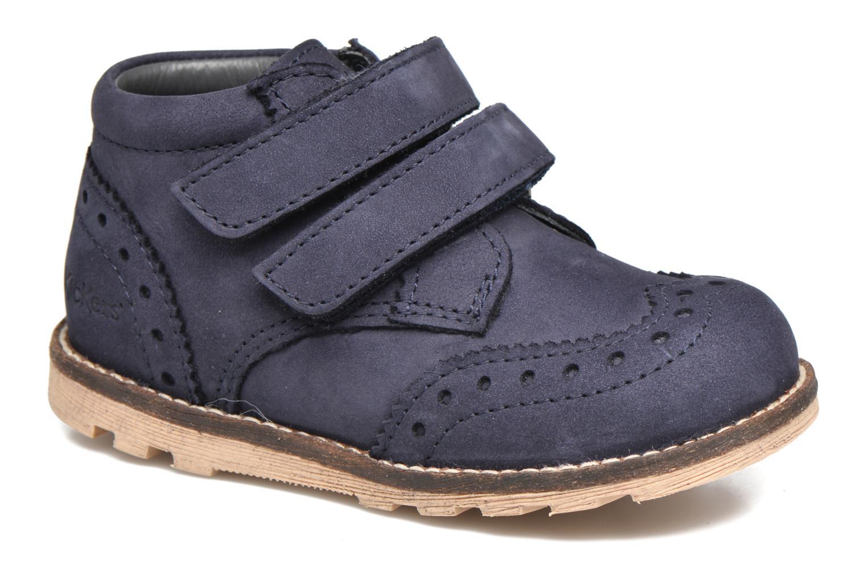 Bottines et boots Kickers Nonocool Bleu vue détail/paire