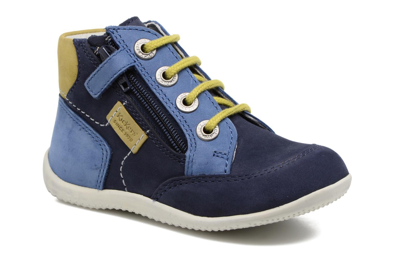 Bottines et boots Kickers Bartin Bleu vue détail/paire