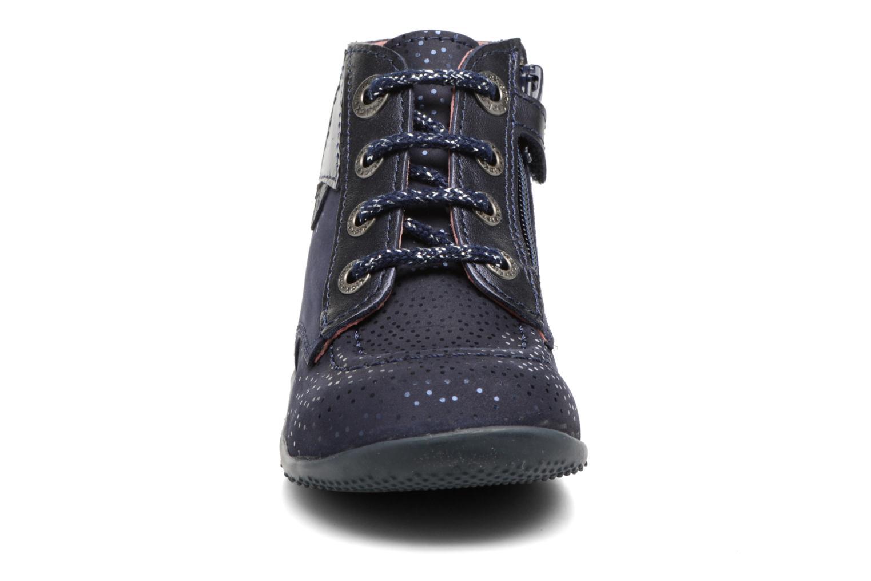 Bottines et boots Kickers Bhou Bleu vue portées chaussures