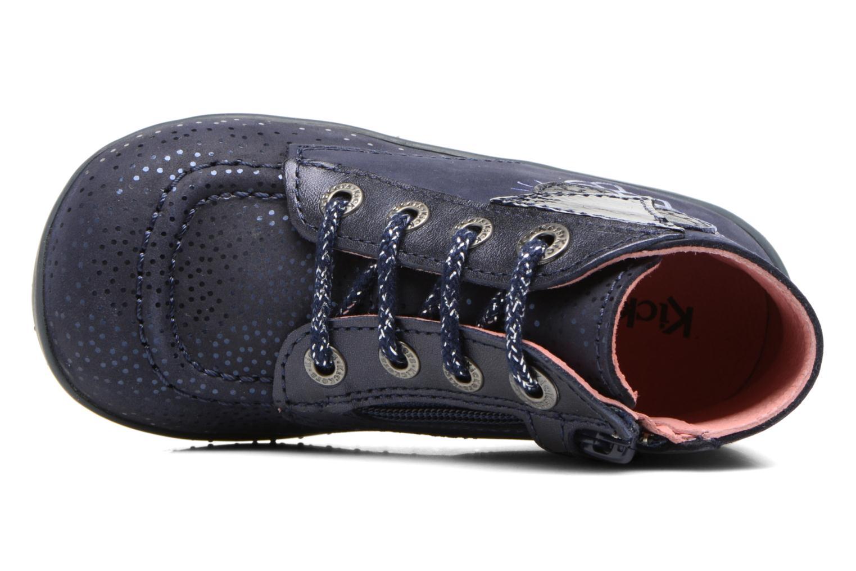 Bottines et boots Kickers Bhou Bleu vue gauche