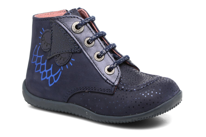 Bottines et boots Kickers Bhou Bleu vue détail/paire