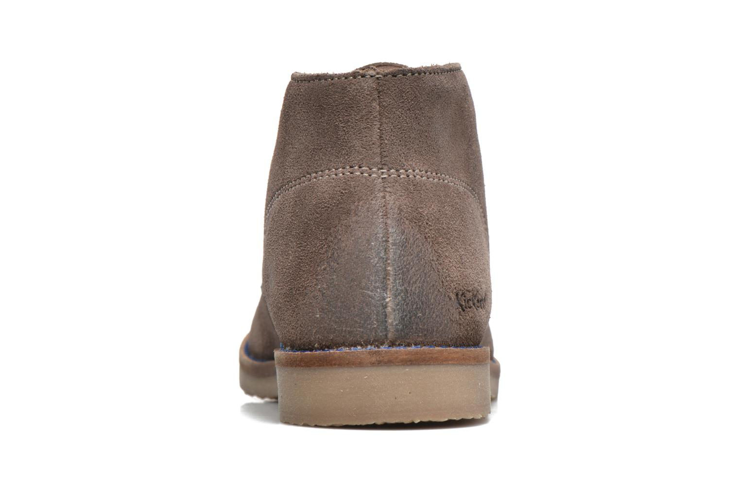 Chaussures à lacets Kickers Tymba Beige vue droite