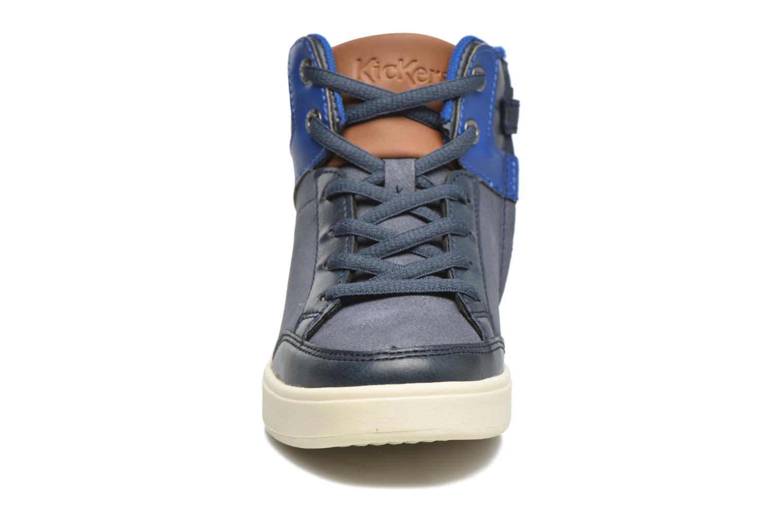 Baskets Kickers Gravlor Bleu vue portées chaussures