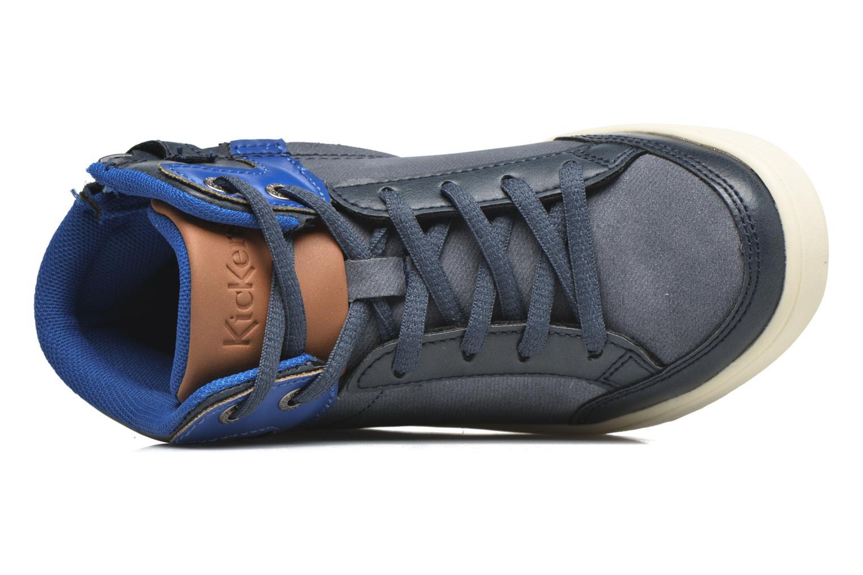 Baskets Kickers Gravlor Bleu vue gauche