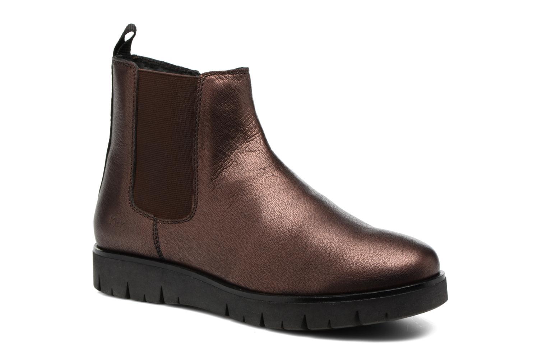 Bottines et boots Kickers Feepassi Bordeaux vue détail/paire