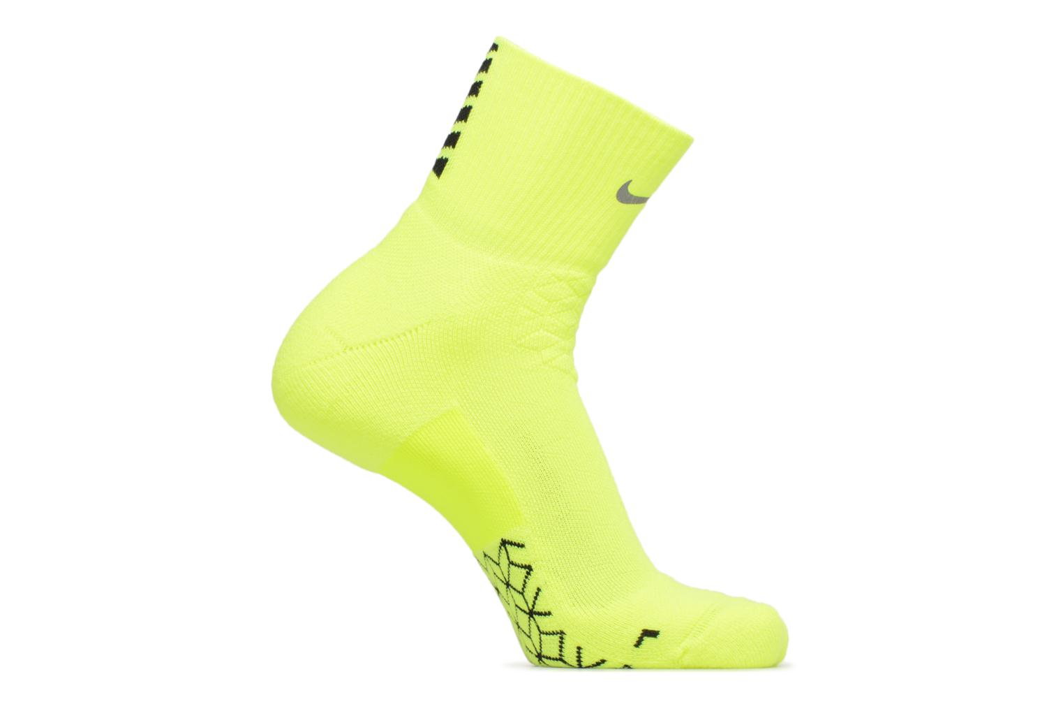 Unisex Nike Elite Cushion Quarter Running Sock Volt/Black