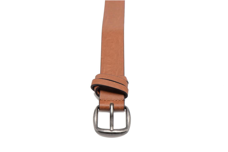 Ceintures Pieces Violanna Jeans Leather belt 28mm Marron vue portées chaussures