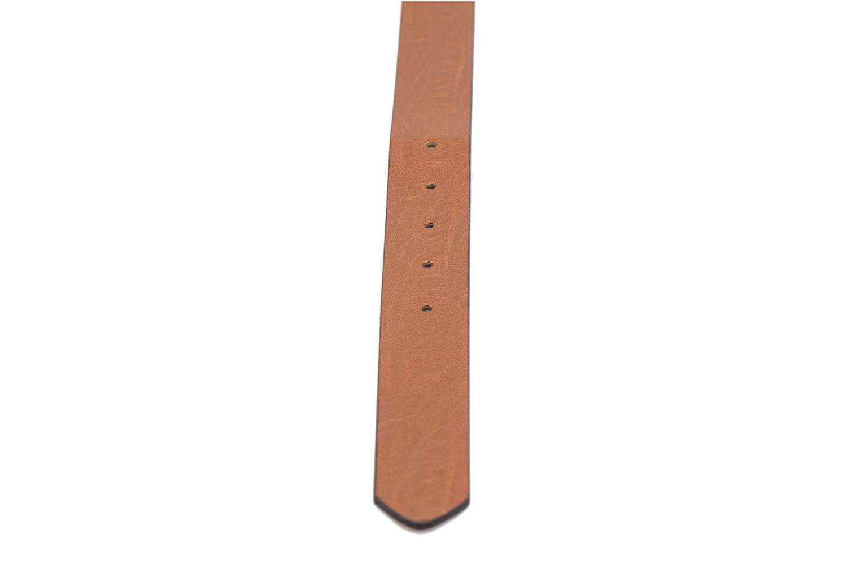 Ceintures Pieces Violanna Jeans Leather belt 28mm Marron vue face