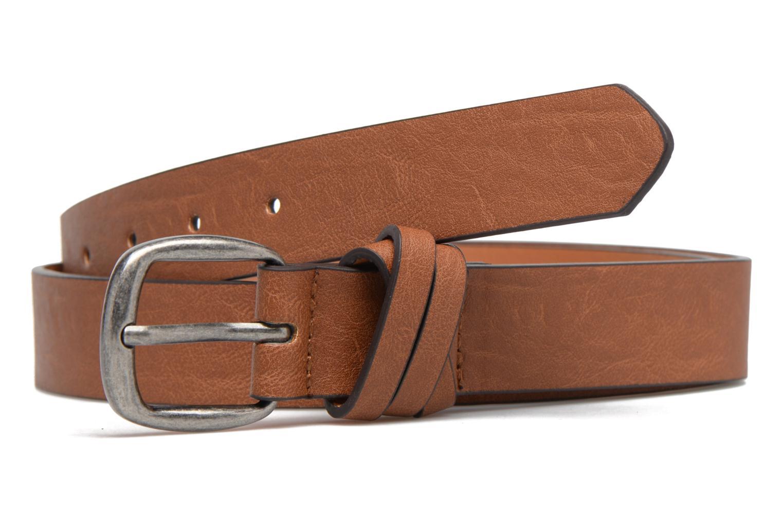 Ceintures Pieces Violanna Jeans Leather belt 28mm Marron vue détail/paire