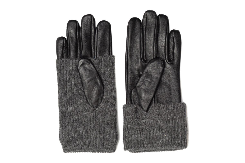Divers Pieces Patty Leather Gloves Noir vue portées chaussures