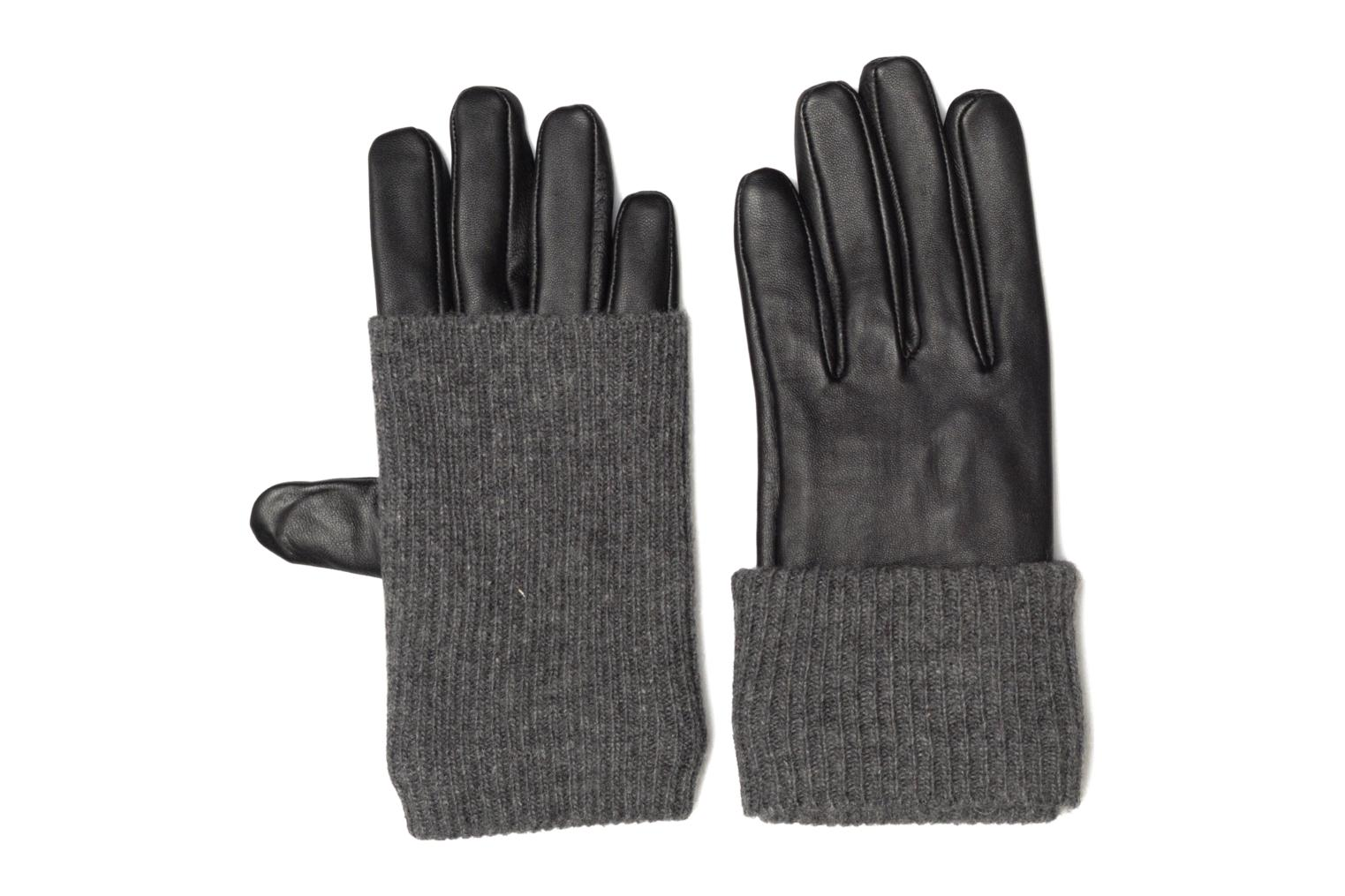 Diversos Pieces Patty Leather Gloves Negro vista de detalle / par