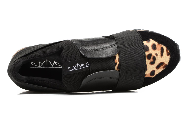 Leonena Suede black leopard