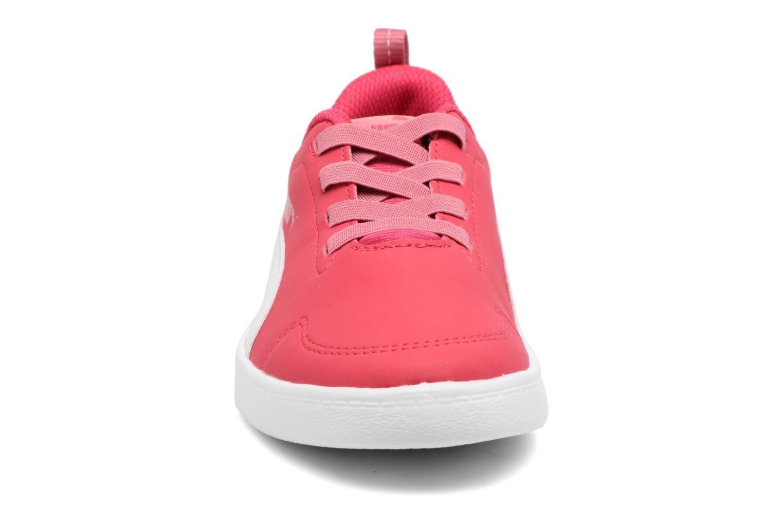 Baskets Puma Inf Courtflex / Ps Courtflex Rose vue portées chaussures