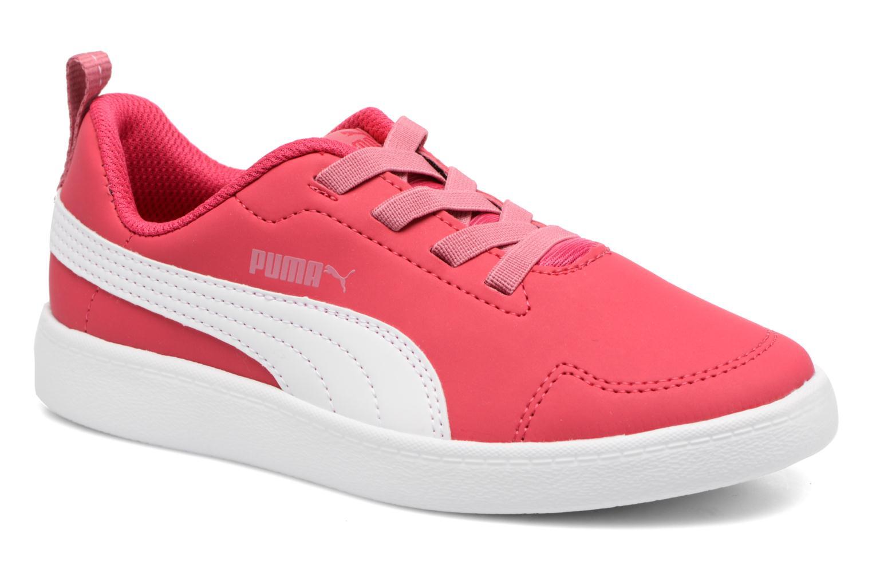Baskets Puma Inf Courtflex / Ps Courtflex Rose vue détail/paire