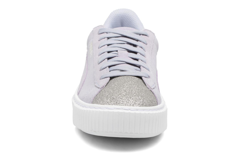 Baskets Puma PS Suede Platform Glam/Jr Suede Platform Glam Gris vue portées chaussures