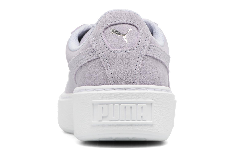 Baskets Puma PS Suede Platform Glam/Jr Suede Platform Glam Gris vue droite