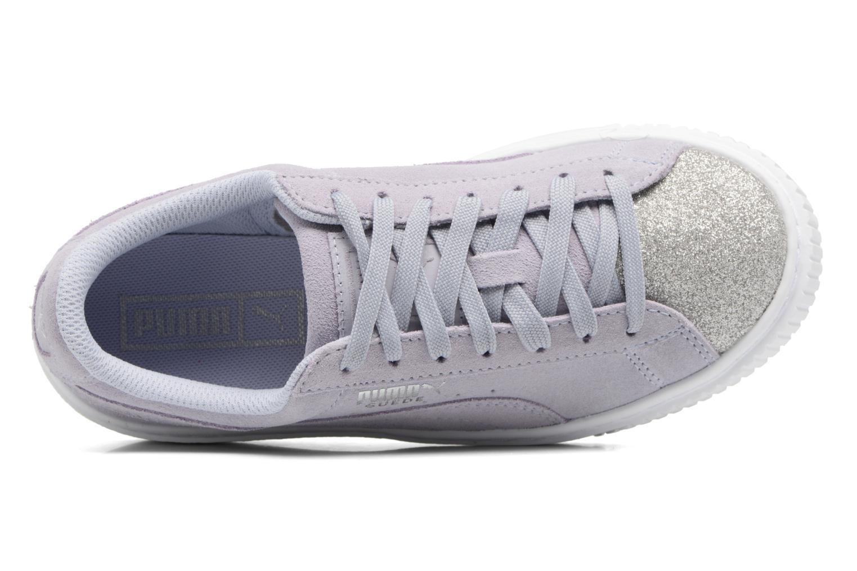 PS Suede Platform Glam/Jr Suede Platform Glam Icelandic Blue/Silver