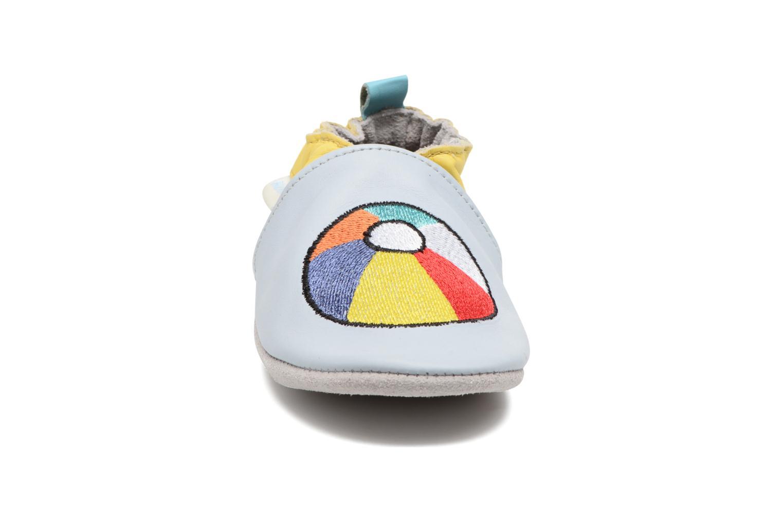 Chaussons Robeez Beach Balloon Bleu vue portées chaussures