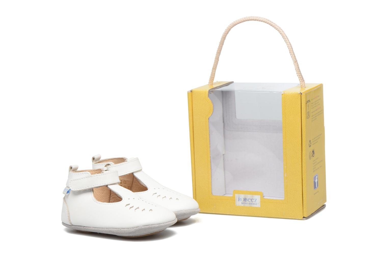 Chaussons Robeez Mini Toe Blanc vue 3/4
