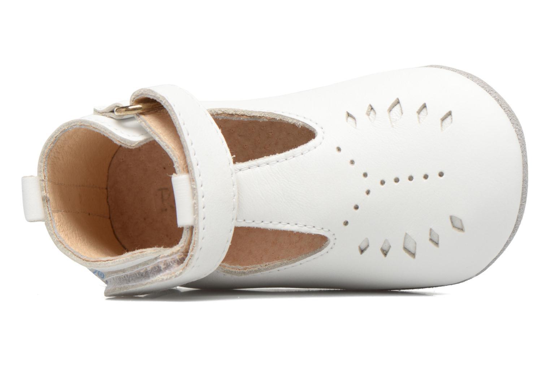 Chaussons Robeez Mini Toe Blanc vue gauche