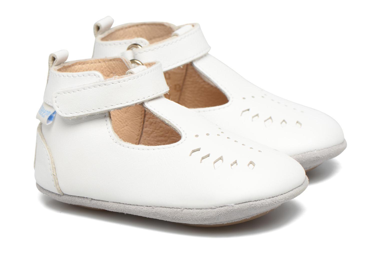 Chaussons Robeez Mini Toe Blanc vue détail/paire