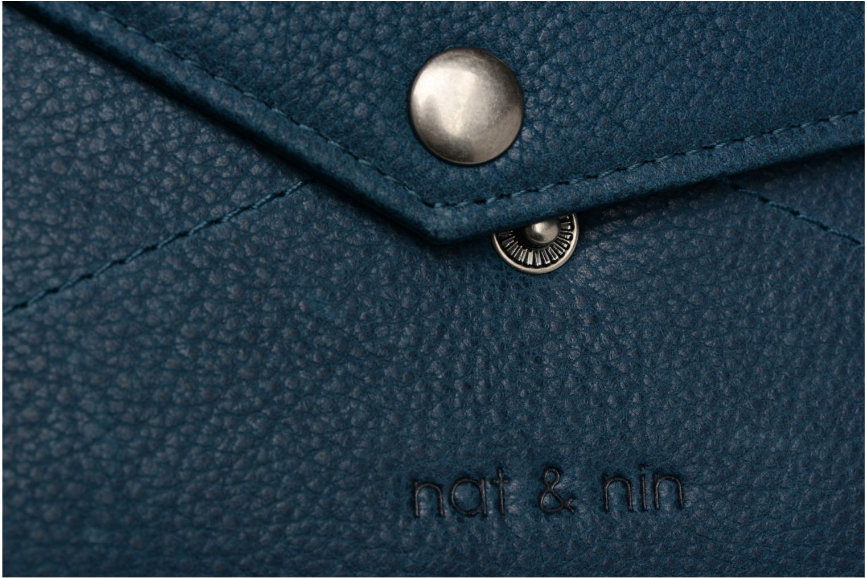 Petite Maroquinerie Nat & Nin Noa Bleu vue gauche