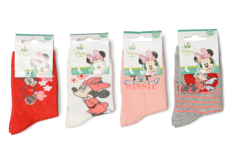 Sokken en panty's Disney Chaussettes Lot de 4 Minnie Rood detail