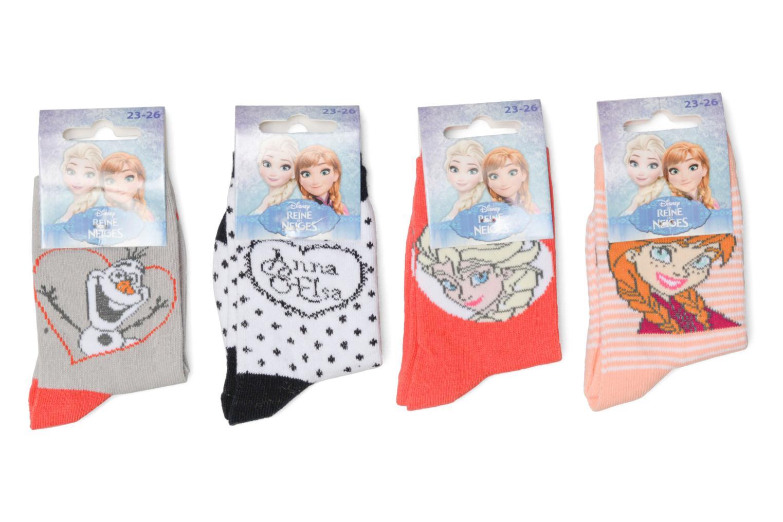 Sokken en panty's Disney Chaussettes Lot de 4 La Reine des neiges Rood detail