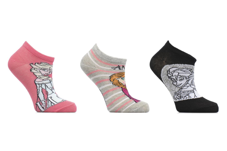 Sokken en panty's Disney Chaussettes Basses Lot de 3 Reine des neiges Roze detail