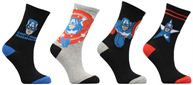 Chaussettes Lot de 4 Captain America