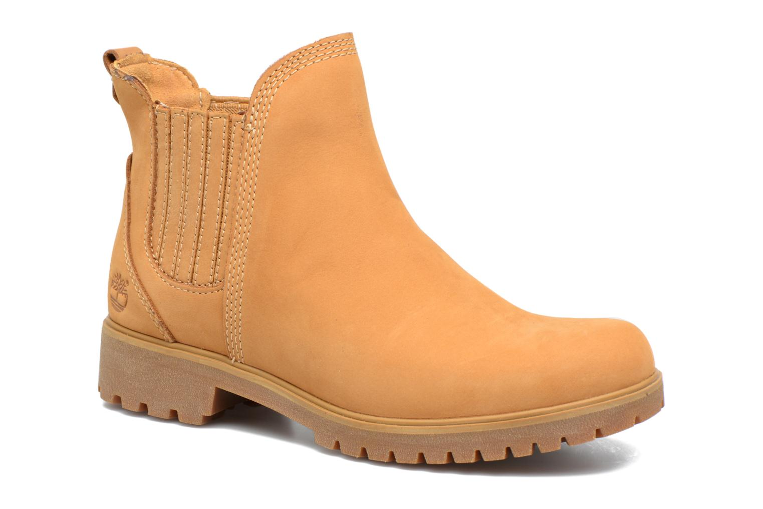 Ankle boots Timberland Lyonsdale Chelsea Brown detailed view/ Pair view