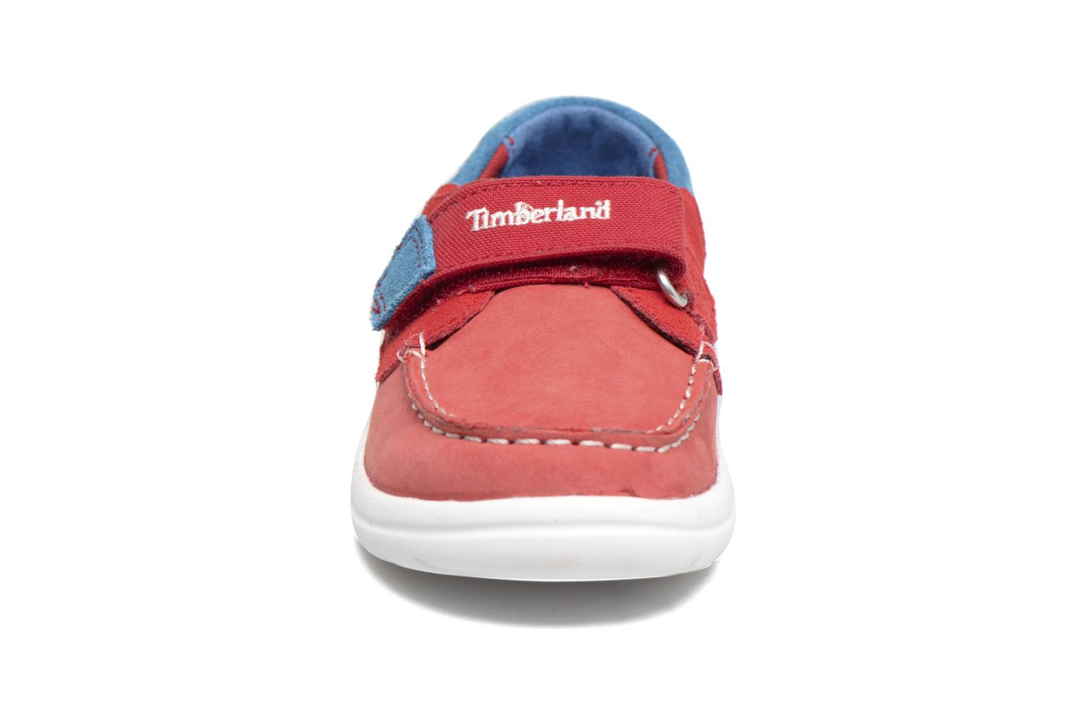 Baskets Timberland Toddletracks Boat Sh Rouge vue portées chaussures