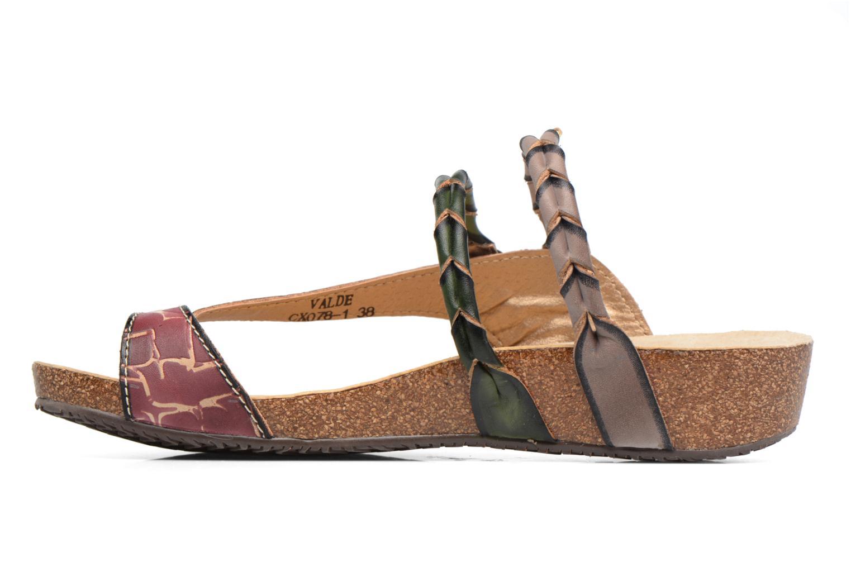 Sandales et nu-pieds Laura Vita Valde Multicolore vue face