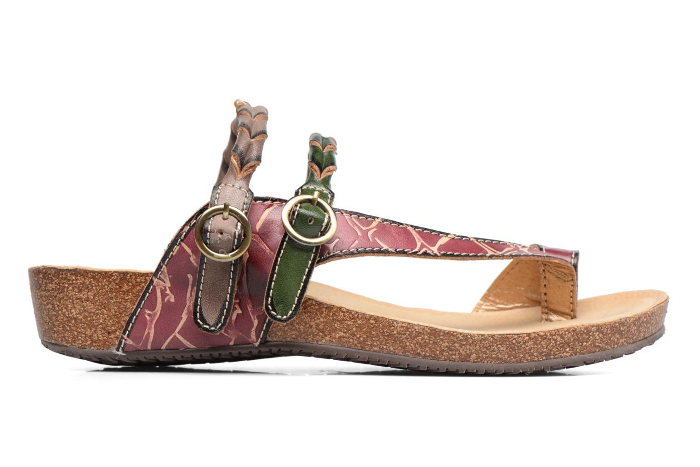 Sandales et nu-pieds Laura Vita Valde Multicolore vue derrière