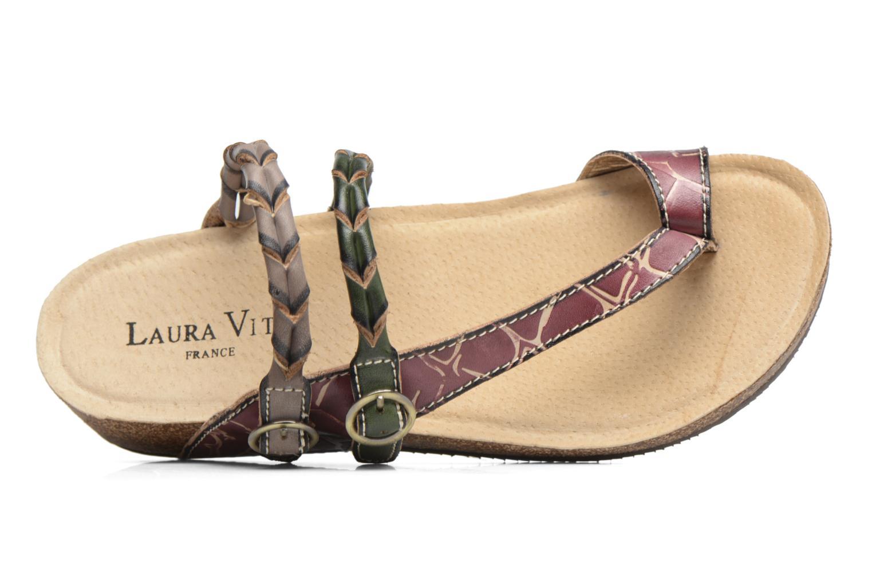 Sandales et nu-pieds Laura Vita Valde Multicolore vue gauche