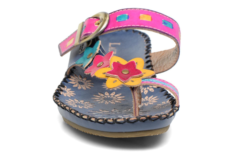 Sandales et nu-pieds Laura Vita Varois Bleu vue portées chaussures