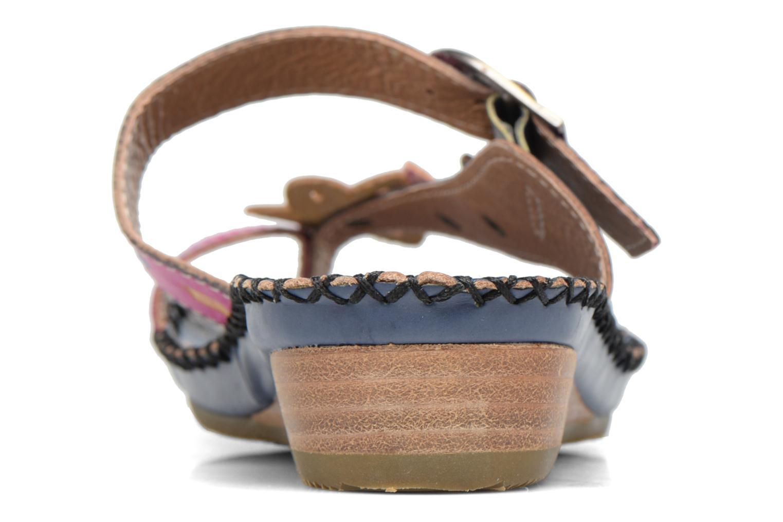 Sandales et nu-pieds Laura Vita Varois Bleu vue droite
