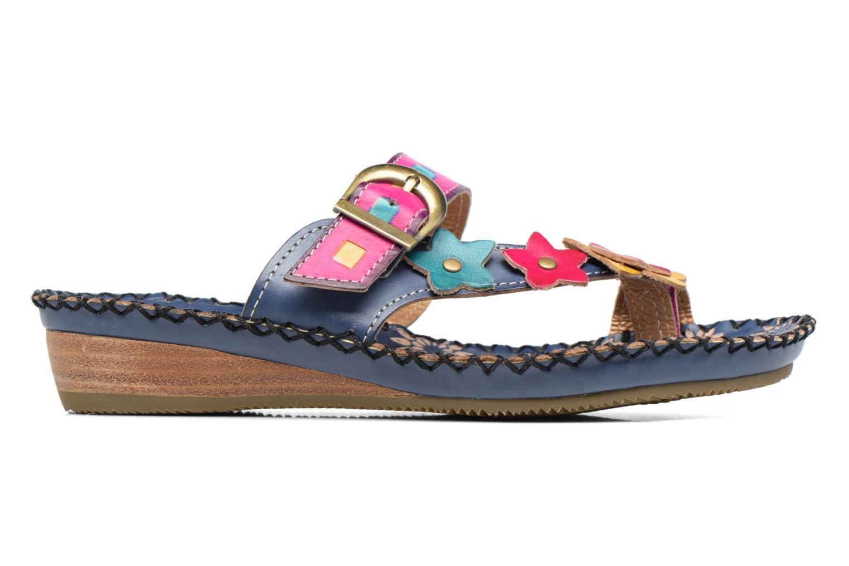 Sandales et nu-pieds Laura Vita Varois Bleu vue derrière
