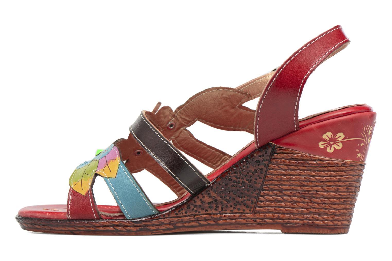 Sandales et nu-pieds Laura Vita Velte Rouge vue face